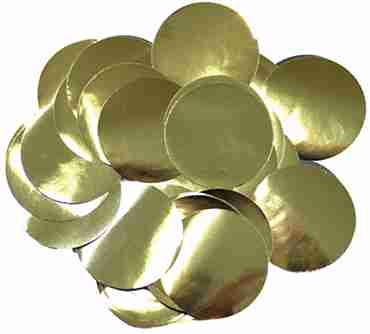 Gold Metallic Round Foil Confetti 10mm 50g