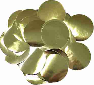 Gold Metallic Round Foil Confetti 25mm 50g