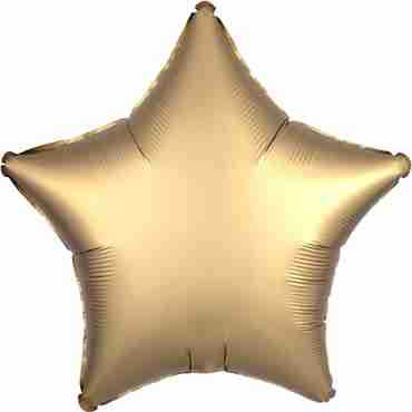 Gold Satin Luxe Foil Star 17in/43cm