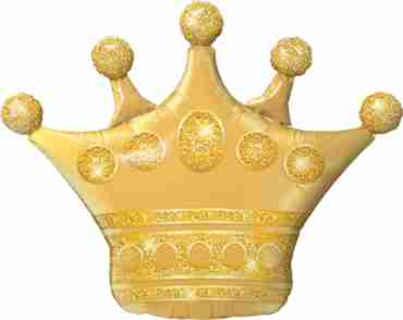 golden crown foil shape 41in/104cm
