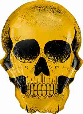 Golden Skull Foil Shape 36in/91cm