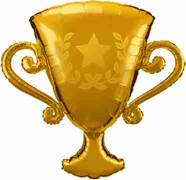 Golden Trophy Foil Shape 39in/99cm