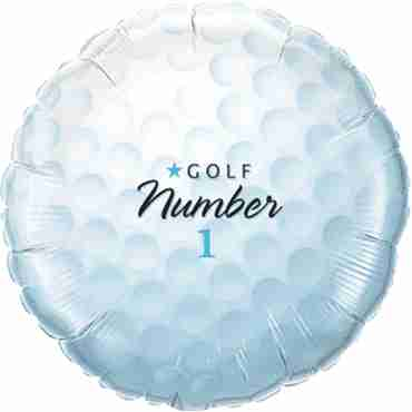 Golf Ball - Number 1 Foil Round 18in/45cm