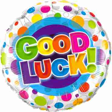 Good Luck Colourful Dots Foil Round 18in/45cm