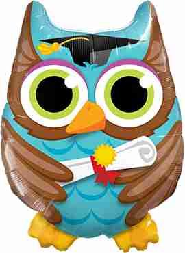Graduate Owl Foil Shape 34in/86cm
