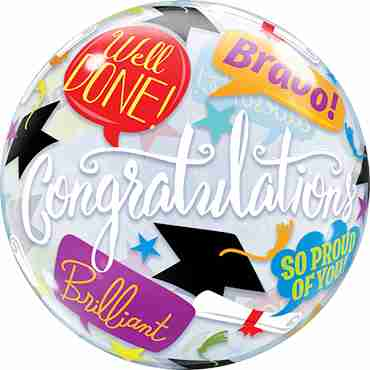 Graduation Accolades Single Bubble 22in/50cm