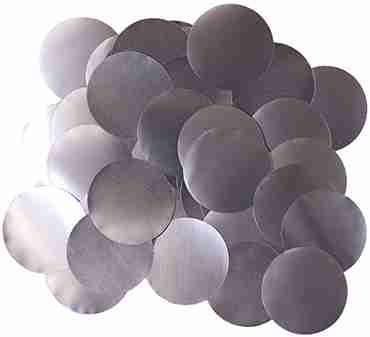 Graphite Pearl Metallic Round Foil Confetti 10mm 50g