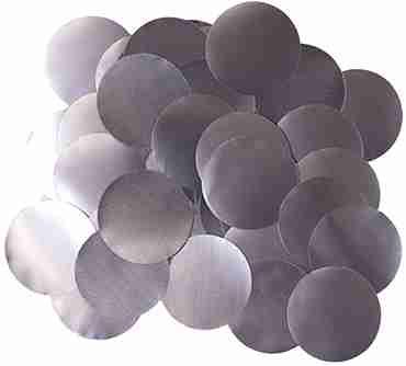 Graphite Pearl Metallic Round Foil Confetti 25mm 50g
