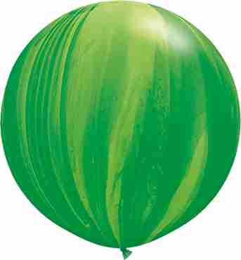 Green Rainbow SuperAgate Latex Round 30in/75cm
