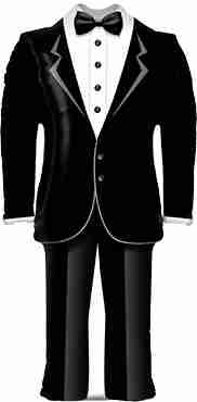 Groom Tuxedo Foil Shape 39in/99cm