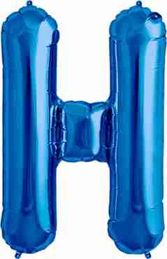 H Blue Foil Letter 16in/40cm