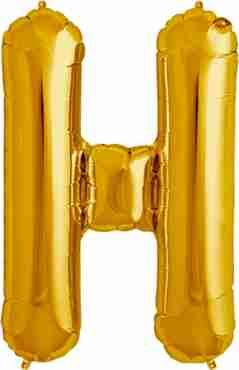 H Gold Foil Letter 16in/40cm