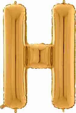 H Gold Foil Letter 26in/66cm