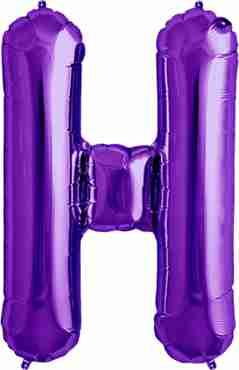 H Purple Foil Letter 34in/86cm