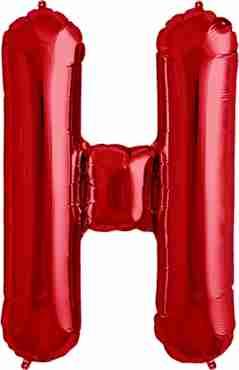 H Red Foil Letter 34in/86cm