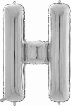 H Silver Foil Letter 26in/66cm