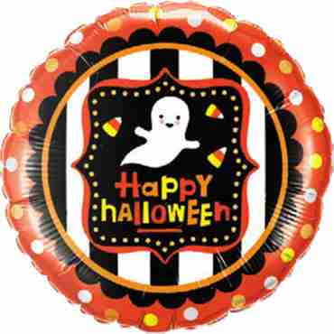 Halloween Ghost and Candy Corn Foil Round 18in/45cm