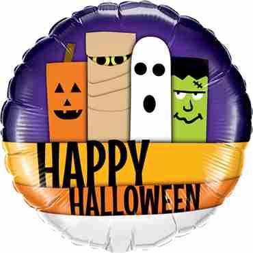 Halloween Line-Up Foil Round 18in/45cm