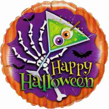 Halloween Scary Drink Foil Round 18in/45cm