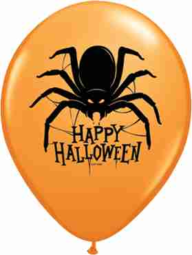Halloween Spider Standard Orange Latex Round 11in/27.5cm