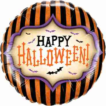 Halloween Stripes Foil Round 18in/45cm