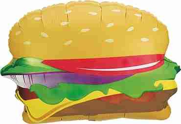 Hamburger Foil Shape 28in/71cm