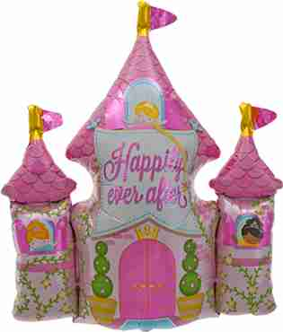happily ever after castle foil shape 33in/84cm