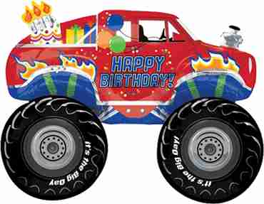 happy big birthday foil shape 31in/78cm x 23in/58cm