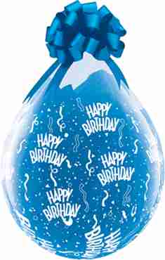 happy birthday crystal diamond clear (transparent) latex round 18in/45cm
