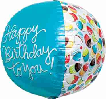 Happy Birthday Cupcake Sphere 17in/43cm