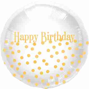 Happy Birthday Dots Foil Round 18in/45cm