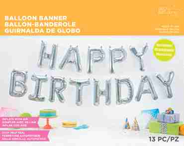 Happy Birthday Kit Holographic Foil Letters 16in/40cm