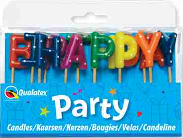 Happy Birthday Multi-Coloured Pick Stick Candles