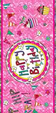 happy birthday perfect pink foil banner