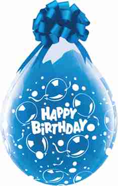 happy birthday sparkling crystal diamond clear (transparent) latex round 18in/45cm
