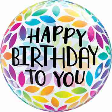 Happy Birthday To You Petals Single Bubble 22in/55cm