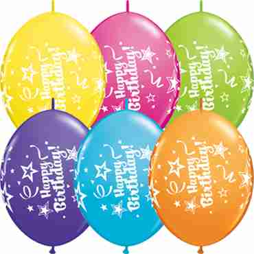 happy birthday tropical assortment quicklink 12in/30cm