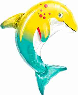 happy dolphin foil shape 14in/36cm