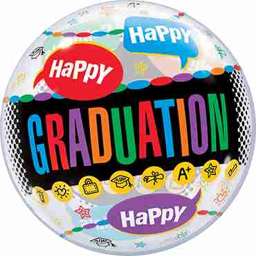 Happy Graduation Congrats Grad Single Bubble 22in/50cm