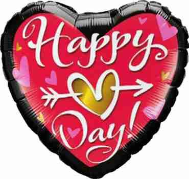 Happy (Heart) Day! Foil Heart 18in/45cm