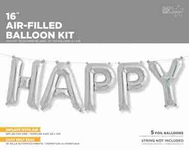 Happy Kit Silver Foil Letters 16in/40cm