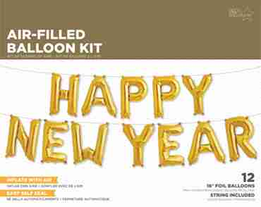 Happy New Year Kit Gold Foil Letters 16in/40cm