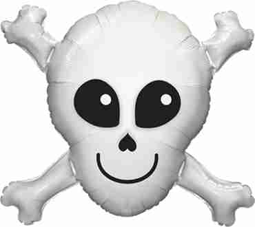 Happy Skull Foil Shape 32in/81cm