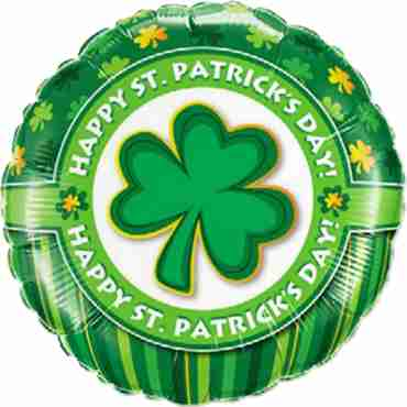 Happy St. Patrick's Day! Foil Round 18in/45cm
