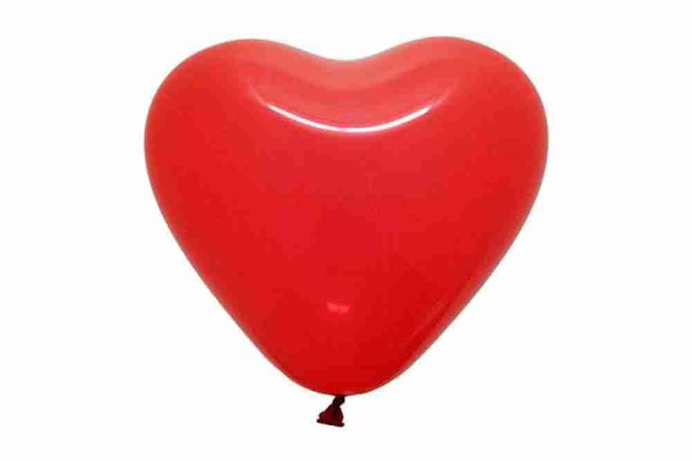 Hartballon 100cm rood