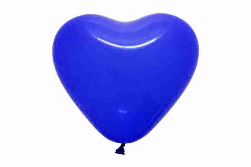 hartballon 25cm donkerblauw