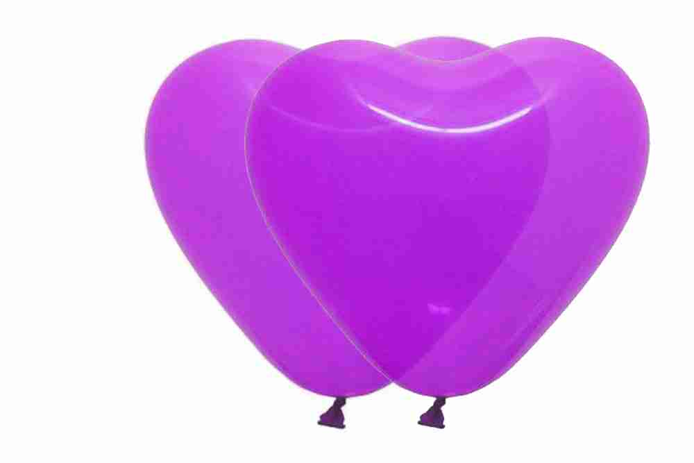 Hartballon 25cm kristal donkerpaars