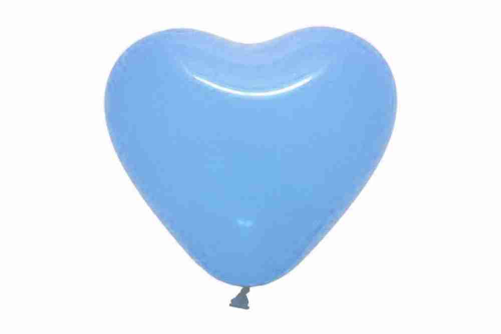 hartballon 25cm lichtblauw