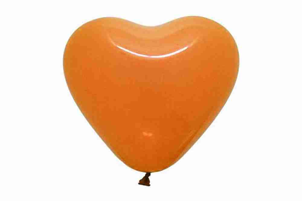 hartballon 25cm oranje