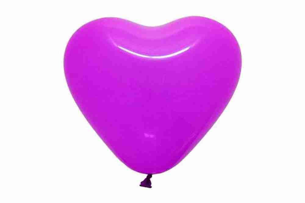 Hartballon 25cm violet